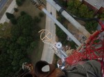 Here's a view of our antenna looking down from the top of the tower.